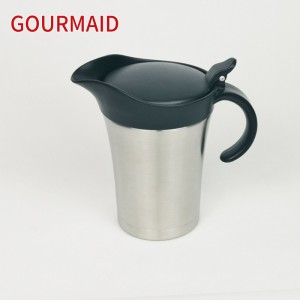 large stainles steel insulated gravy jug