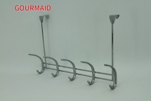 5 Hook Steel Chrome Over Door Hooks