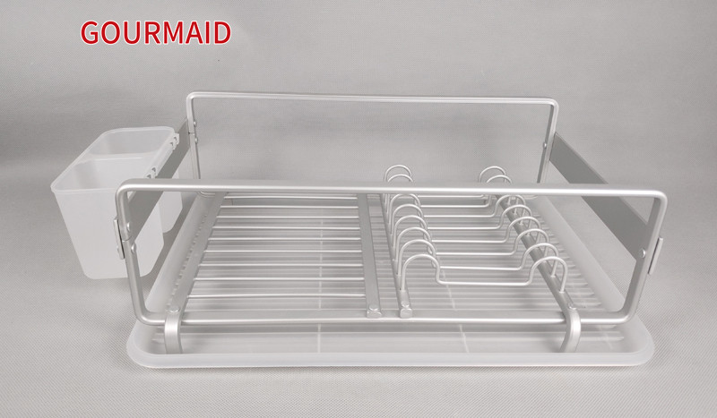 Aluminum dish Drainer With Drip Tray Featured Image