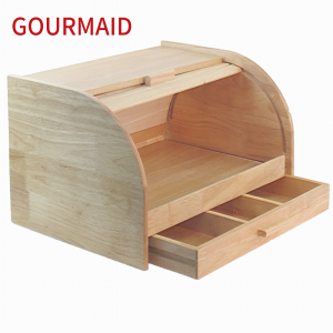 Wooden Bread Bin with draw
