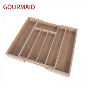Extendable Bamboo Utensil Tray