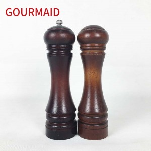 rubber wood Salt Shaker and Pepper Mill
