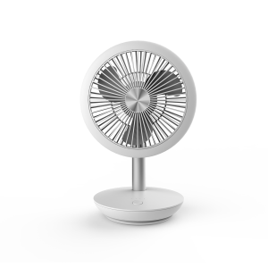 DF-EF0510DD mini rechargeable fan; USB connection; low noise; desk table personal fan; 90° vertical oscillation by hand; suit for office, camping, making up, studying and going outside; optional re...