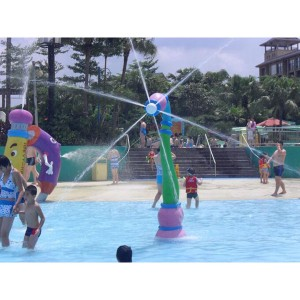 Fiberglass water park children water spray toy