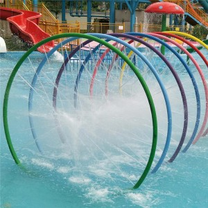 Hot selling of water park splash equipment rainbow ring