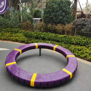 Low-cost playground equipment rotating ring playground