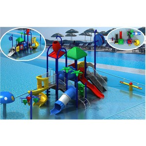 Professional Custom High Quality Fiberglass Childrens' Water Slide playground