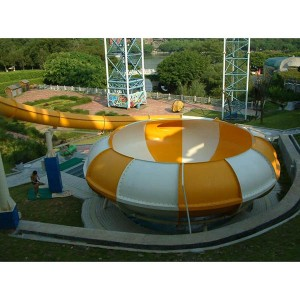 Space basin water slide