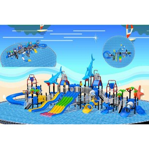 Water park combination slide entertainment equipment