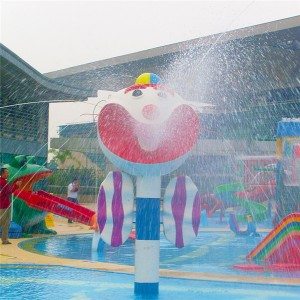 Water park splash pad equipment