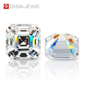 GIGAJEWE D Colour Excellent Asscher Cut Moissanite Loose Diamond Pass Tester Gems Stone For Jewelry making