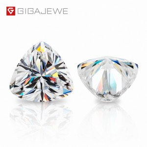 GIGAJEWE D Colour Excellent Trillion Cut Moissanite Loose Diamond Pass Tester Gems Stone For Jewelry making