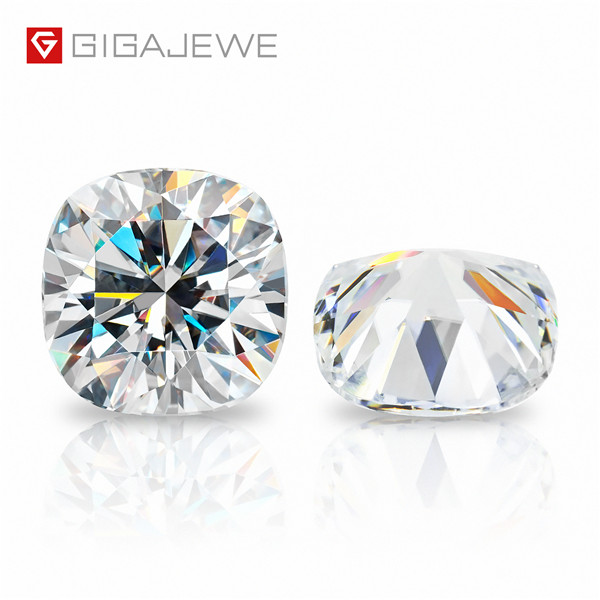 GIGAJEWE D Colour Excellent Cushion Cut Moissanite Loose Diamond Pass Tester Gems Stone For Jewelry making Featured Image