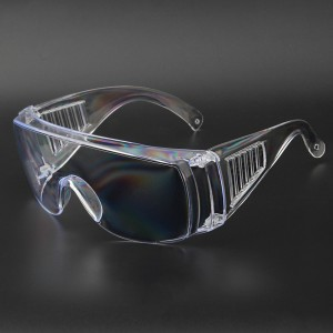 Wholesale Safety Glasses Anti-fog Fully Transparent Clear Blinds Plastic Eye Safety Protective Glasses Anti-fog