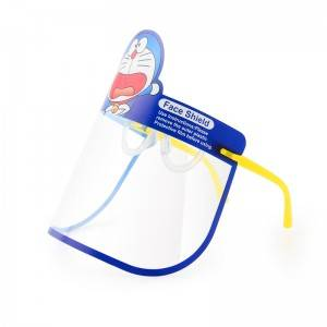 Kids Face Shield with Glasses Frame, Fully Transparent Face Bandanas, Anti-Fog/Anti-Spray