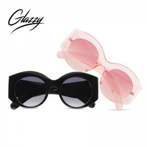 Women Oval Sun Glasses Eyewear Candy Colorful Classic Transparent Frame Sunglasses Uv400 Retro Pink Sunglasses