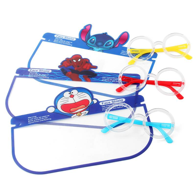 Cartoon Printing Lightweight Face Guard Covering Washable Safety All-Round Protection Children's glasses face shield