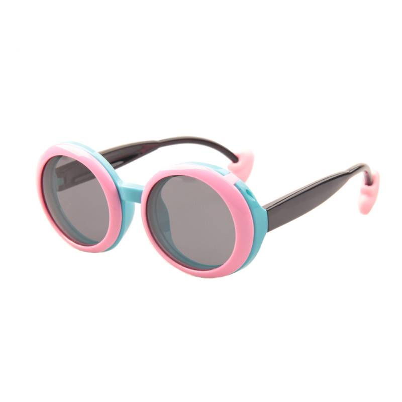 Glazzy muti kids rubber flip lenses polarized sunglasses