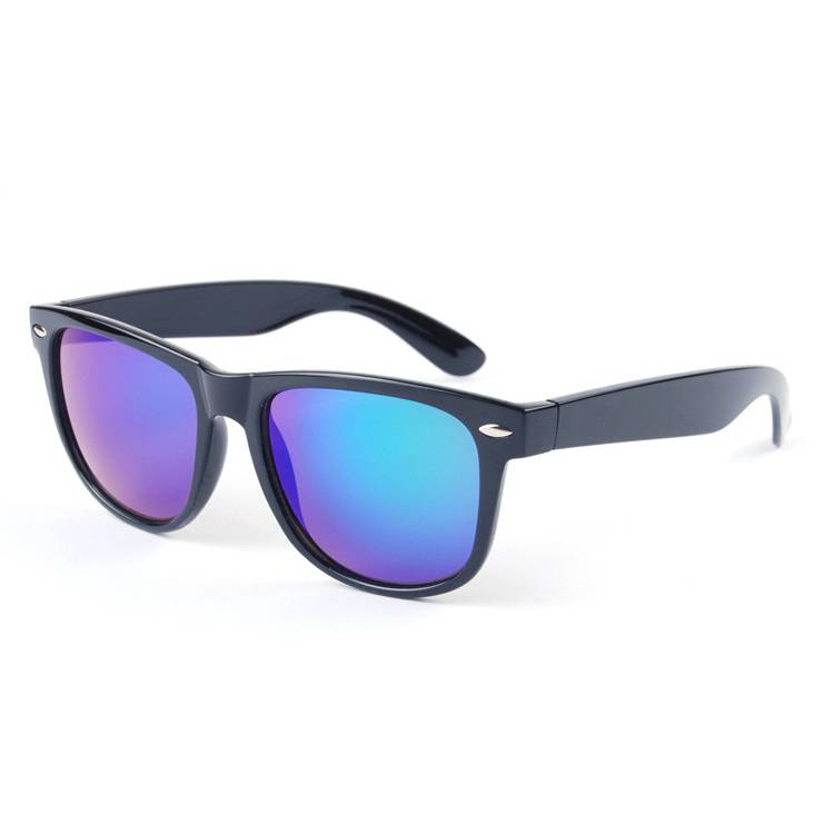 Glazzy 2019 fashion matte black big square frame sun glasses mirror polarized sunglasses with customized color