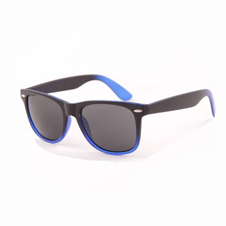 Hot selling two color mix frame sunglass PC frame sunglass cheap small pins sunglass for men