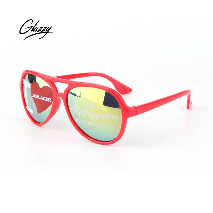 Glazzy custom fashionable brand sunglasses PC frame trending sunglasses