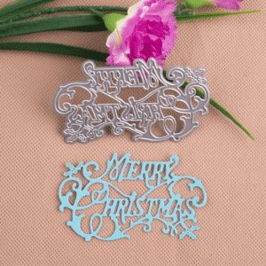 Paper Cutting Merry Christmas Metal Craft Cutting Dies