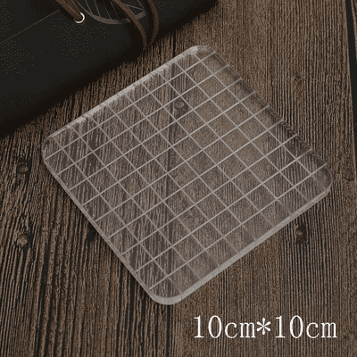 Acrylic Clear Stamps Block with Grids and Grips for Scrapbooking Featured Image