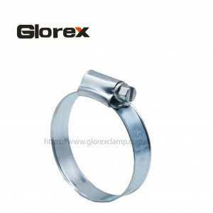 British type hose clamp with welding