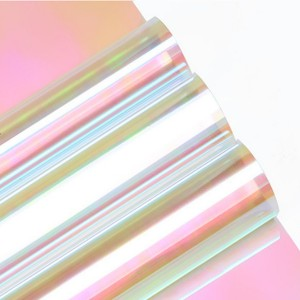 Red Pink Dichroic Iridescent Cellophane Film for Packing Decoration