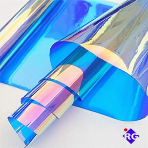 0.2mm Dichroic Iridescent PVC film Magical Material for decoration, art design and crafts