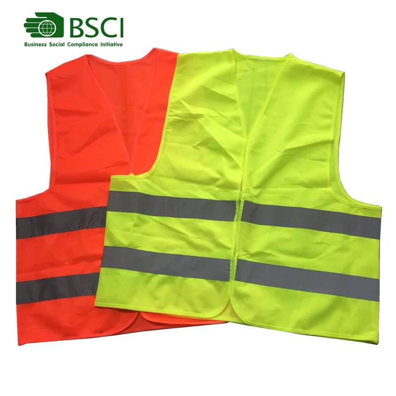 Hi vis construction vest reflective safety vest