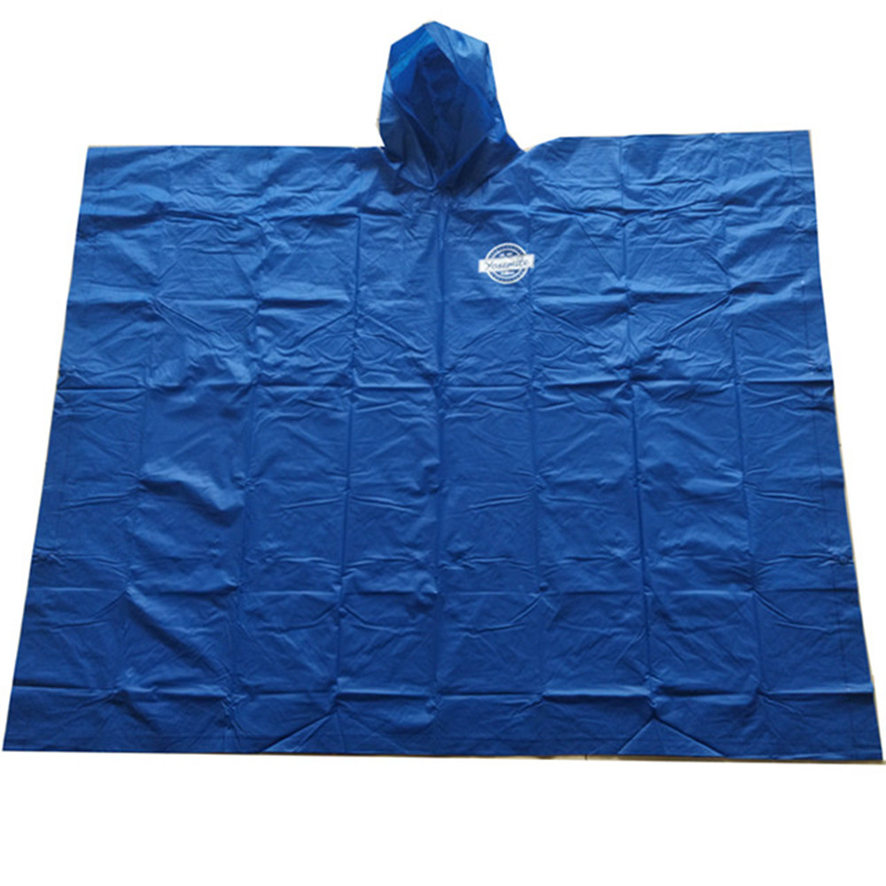 Customized Logo Printed PVC Rain Poncho