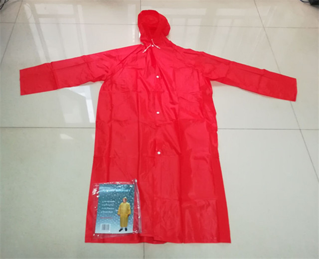 Top quality reusable PVC Raincoat for travelling