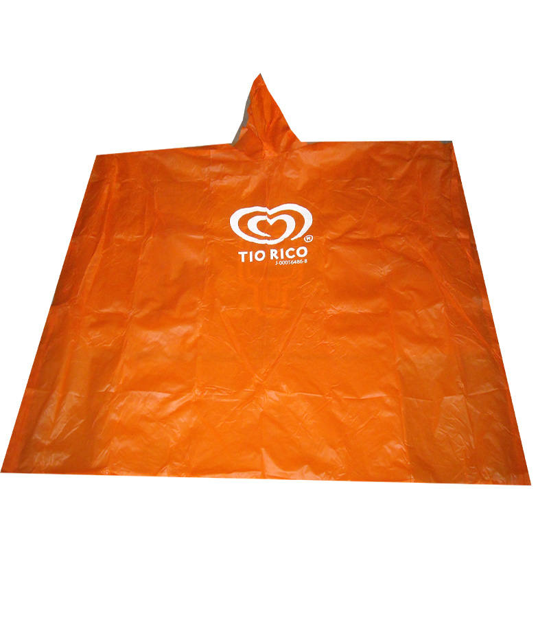 Promotional Plasic  Adult LDPE Rain Ponchos,
