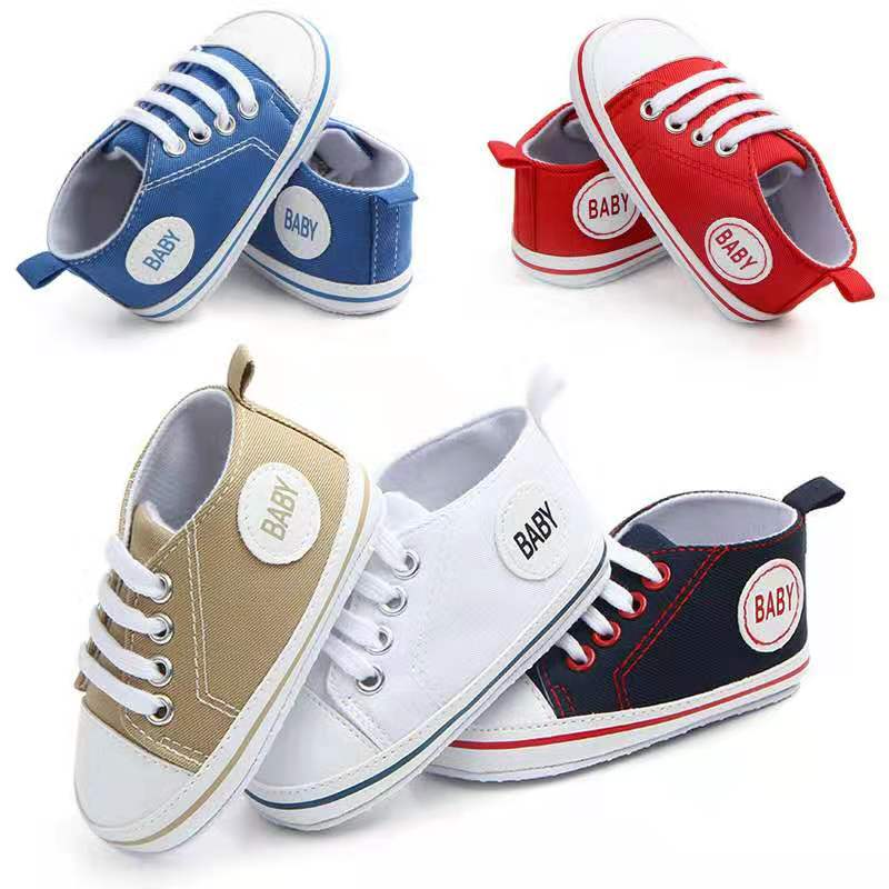soft bottom canvas baby shoes