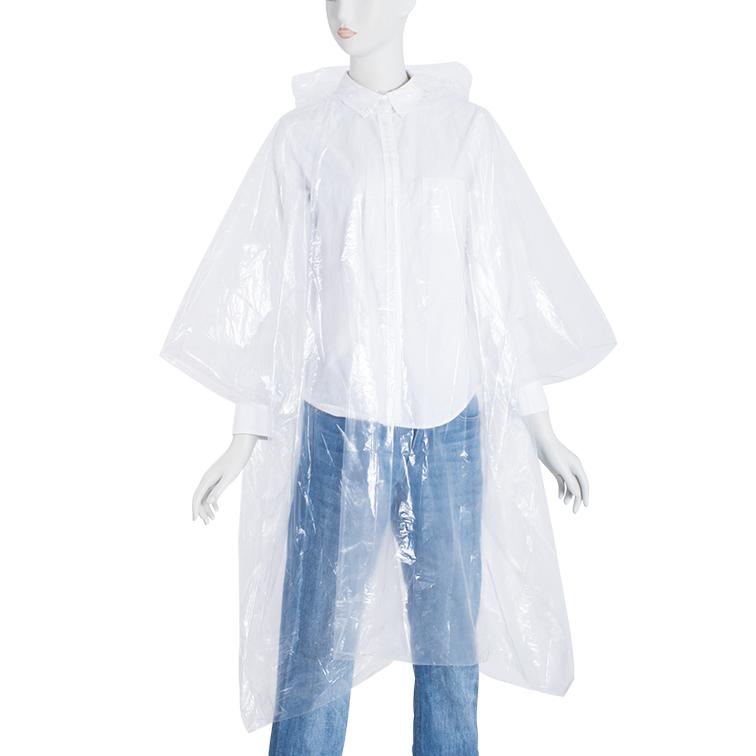 Plastic PE Disposable Rain Poncho