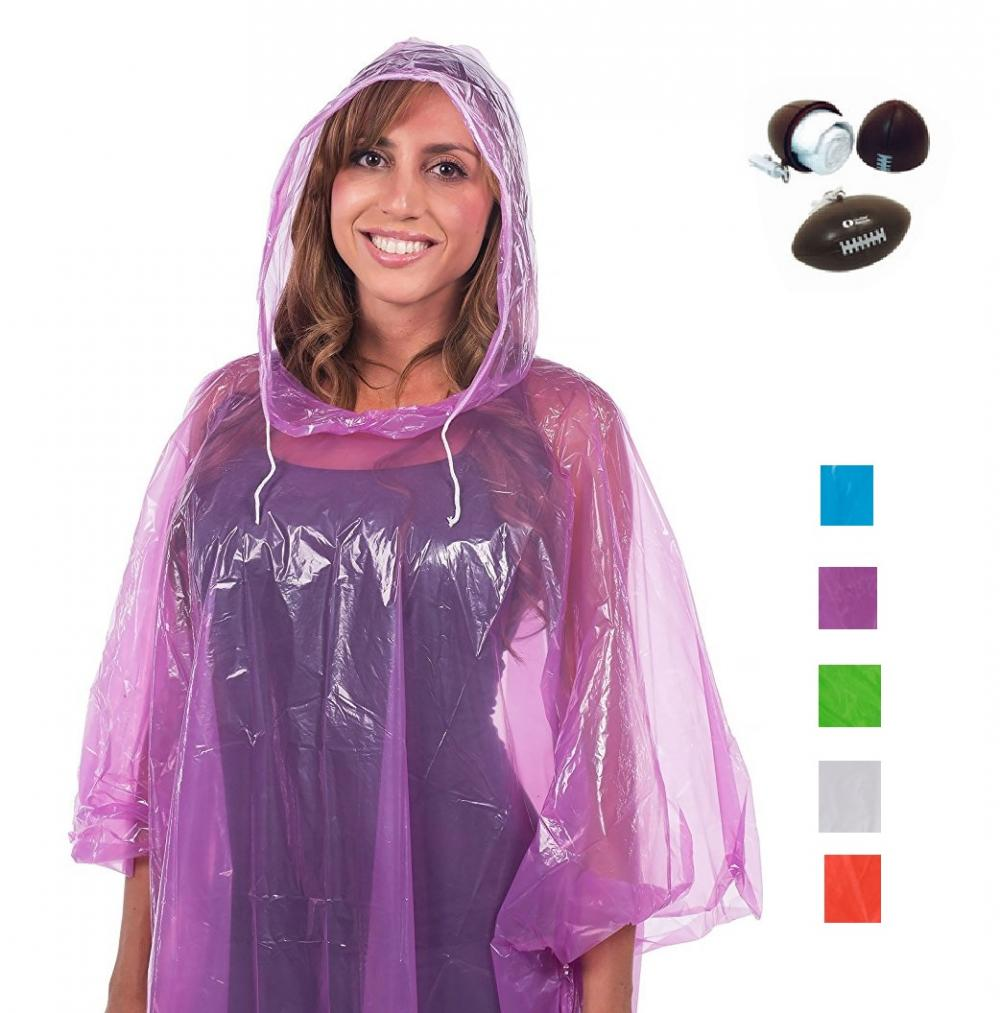Promotional Disposable Adult LDPE Rain Ponchos