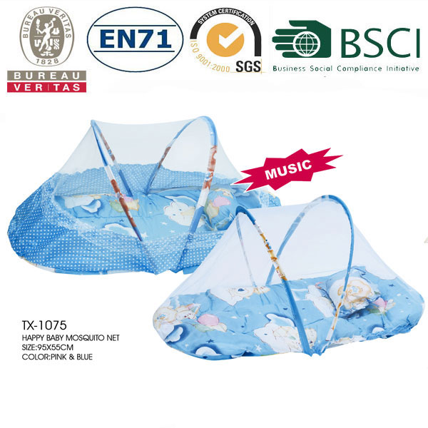 Baby polyester Mosquito Net with Music