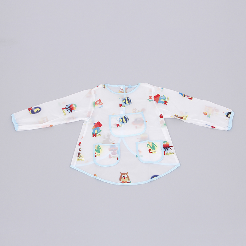 Baby apron with long sleeves