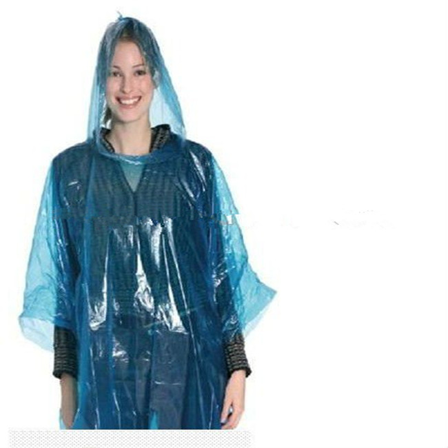 Adult Color Disposable Pe Poncho Featured Image