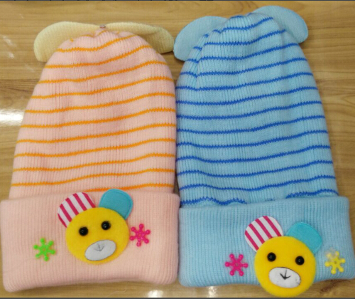 Wholesale Knit Cap Embroidery Baby Hat