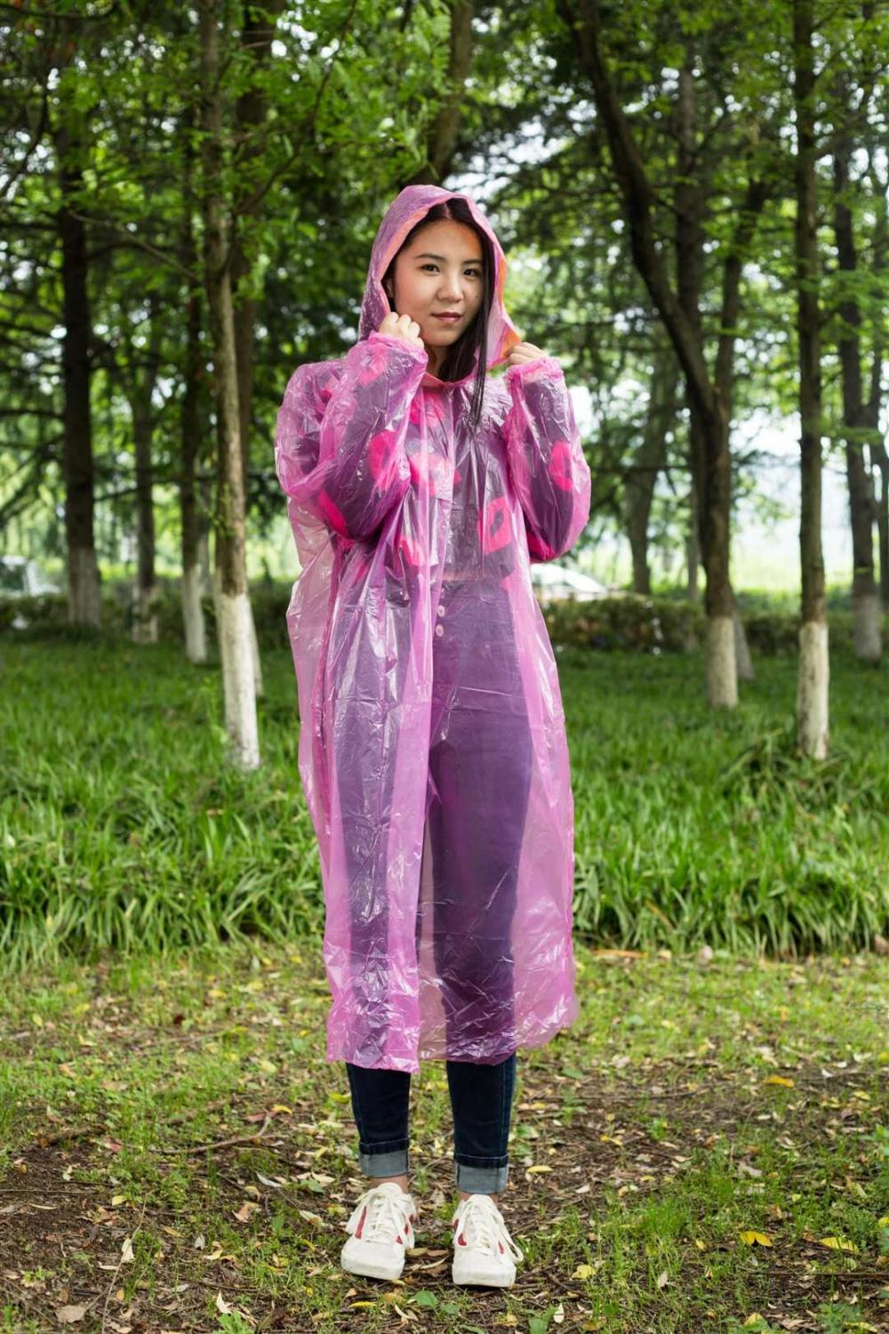 disposable protective raincoat with elastic