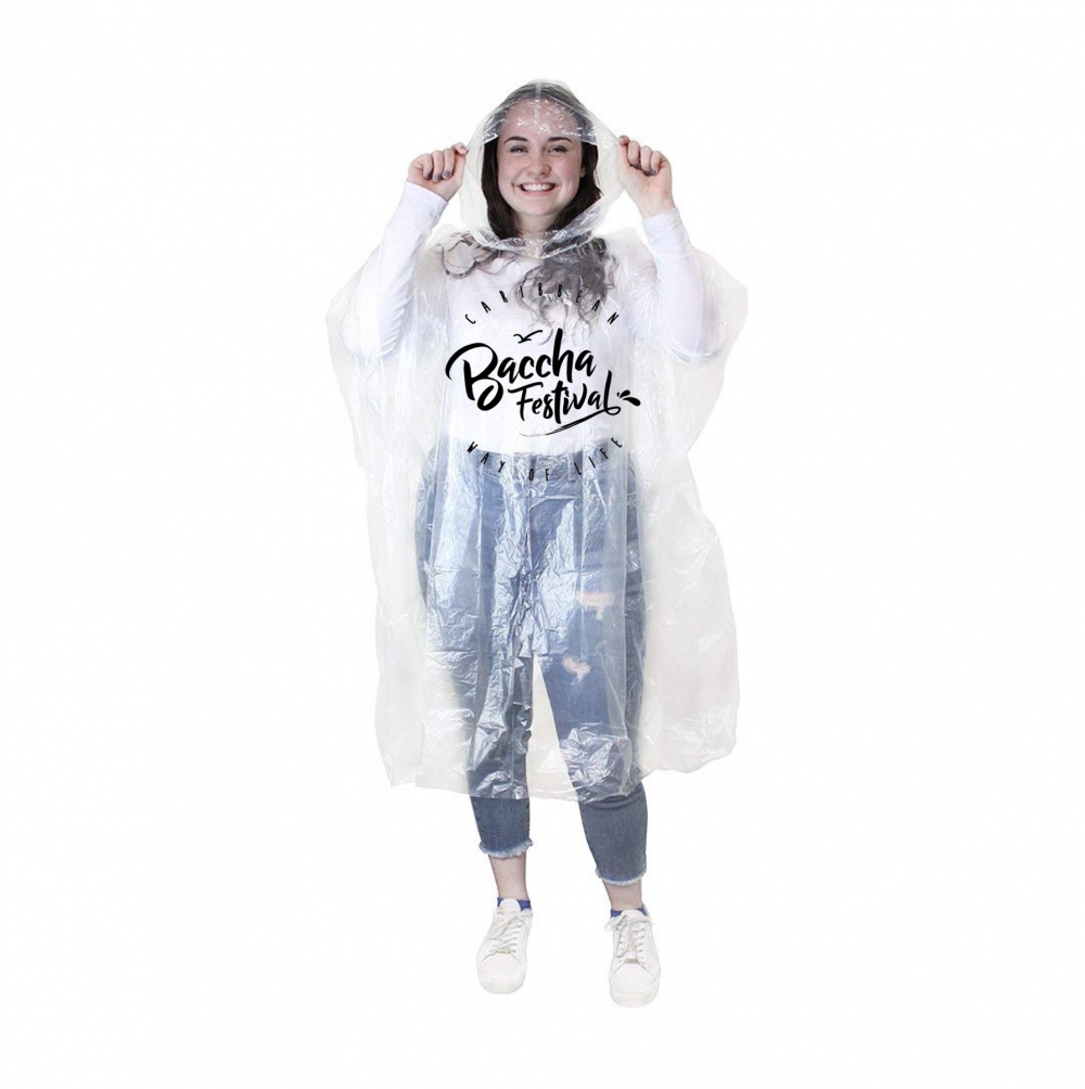 Disposable Plain Color PE Rain Ponchos