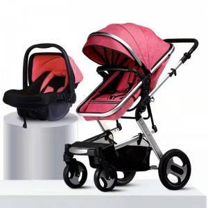 New design high quality wholesale price light weight foldable 3 in 1 baby stroller luxury