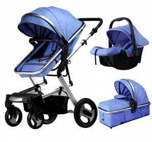 High landscape high quality light weight foldable luxury baby stroller with car seat