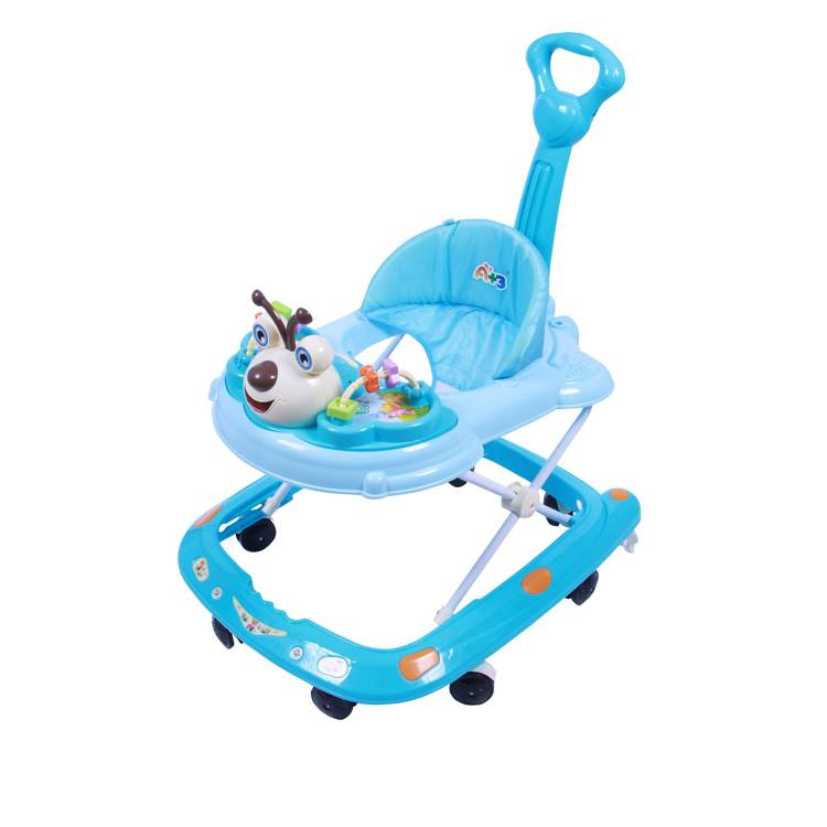 factory sales safe baby walker with safety belt/wheel baby walker/latest design rubber wheel baby walker