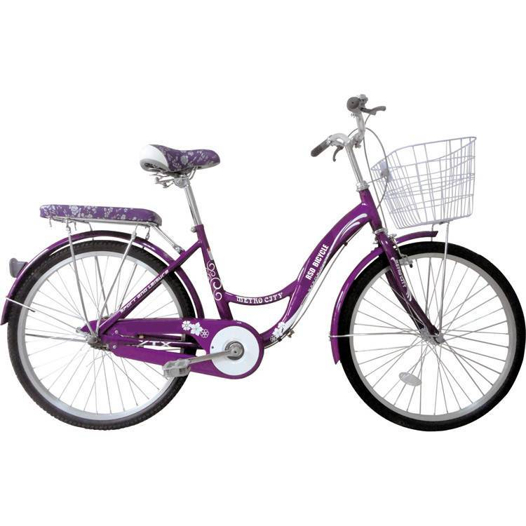 "City bike women road bicycle with front basket /26"" women city bicycle"