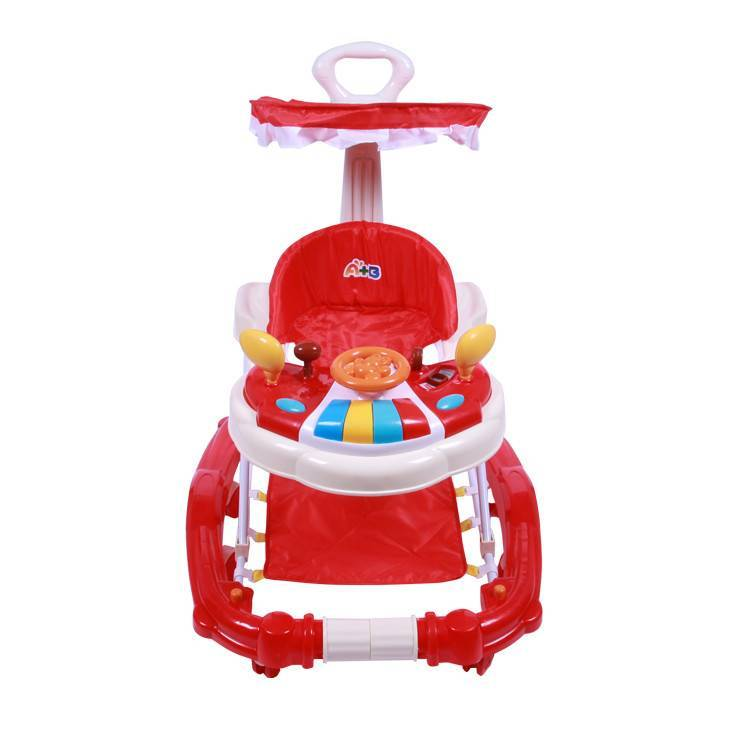 low price animal baby walker cum swing/wholesale cheap multifunctional baby walker with music and lights/baby trolley walker