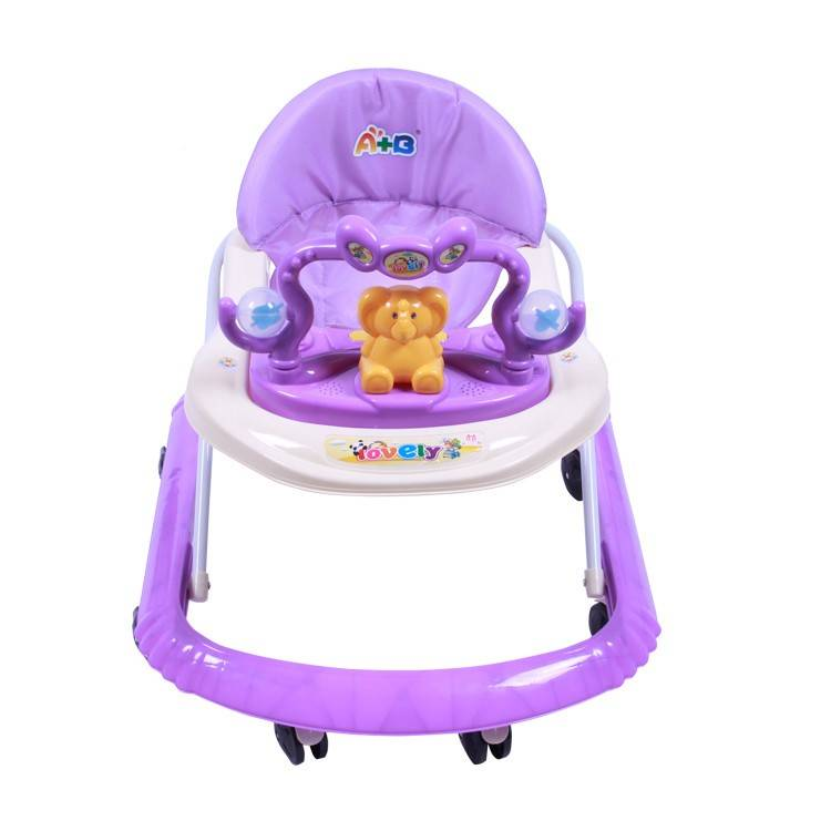 2020 China cheap small baby walker price / 8 wheels plastic baby walking chair / new model baby walker with music