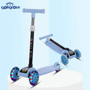 Popular high quality cheap 3 wheel baby scooter european baby toys three wheel kids scooter with light